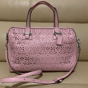 Coach Taylor Eyelet Leather Satchel #F27392💋❤️